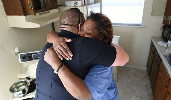 Cop buys mother he caught stealing, $200 dollars in groceries for her kids.  Values to die and live for.